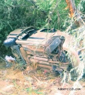 Çankırı Aşağı Yanlar Bölgesinde Meydana Gelen Trafik Kazasında İki Kişi Yaralandı