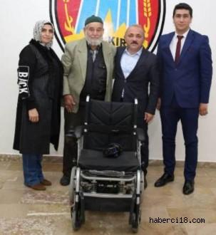 Çankırı Belediyesi'nin Akülü Sandalye Yardımı Devam Ediyor