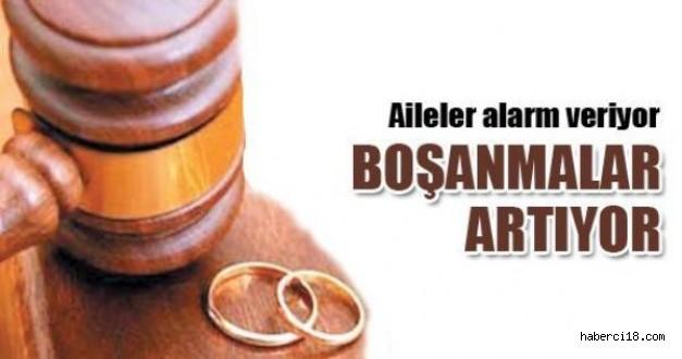 Çankırı'da Boşanmalarda Büyük Artış