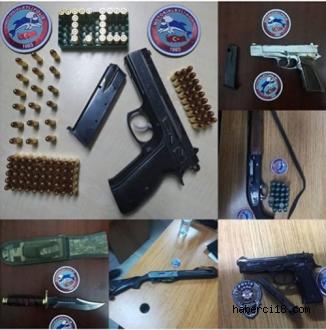 Çankırı'da Kaçak Tabanca, Tüfek Ve Mermi Ele Geçirildi