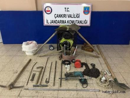 Çankırı İl Jandarma Komutanlığı İzinsiz Kazı Yapan Şüpheliler İle Hayvan Dolandırıcılarını Yakaladı