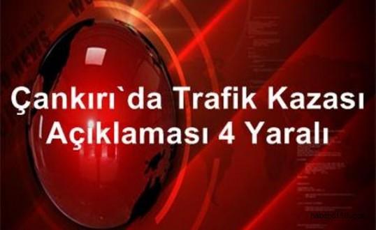 Çankırı'nın Çerkeş İlçesinde Otomobil Devrildi 4 Yaralı