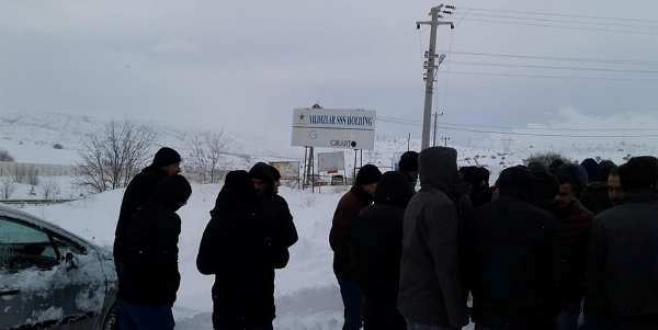 Çankırı'nın Kurşunlu İlçesinde Bulunan Seramik Fabrikası İşçileri Eylem Yaptı