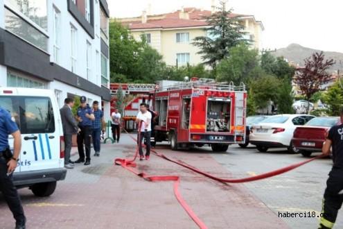 Çankırı Şehir Merkezine Korkutan Yangın