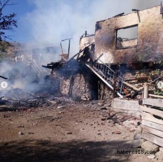 Eldivan Nağnaz Köyünde Yangın