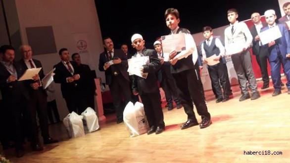 Genç Bilâller Ezan Okuma Yarışması'nda Türkiye İkincisi Çankırı'dan