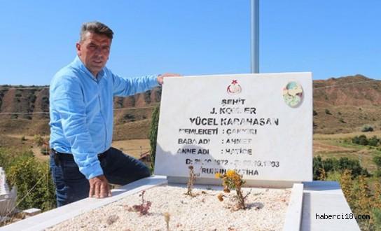 Gurbetçi İnşaat İşçisi, Şehit Mezarlarını Yeniledi
