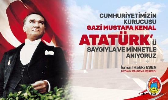 İlimiz Valisi, Belediye Başkanı Ve Baro Başkanlığının 10 Kasım Atatürk'ü Anma Günü Mesajları