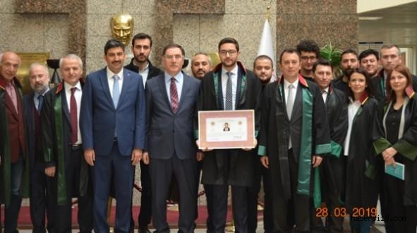 Kamu Baş Denetçisi Şeref Malkoç Çankırı Barosunu Ziyaret etti, Ruhsat Törenine Katıldı