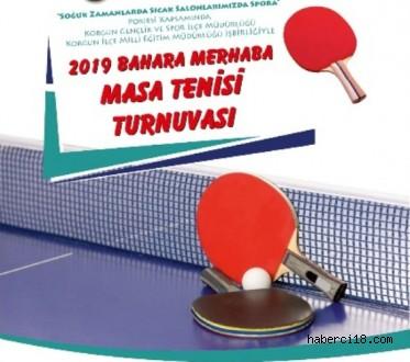 Korgun 2019 Yılı Bahar Mevsimini Düzenleyeceği Masa Tenisi Turnuvası İle Karşılıyor
