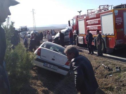 Çerkeş'te Trafik Kazası 3 Kişi Hayatını Kaybetti, 1 Kişi Yaralandı