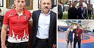 Başkan Esen'in Bol Madalyalı Güreşçisi Fatih Özgen Kampa Girdi