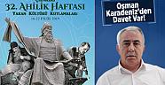 Çankırı'da Ahilik Haftası Yaran Kültürü Kutlamaları Başlıyor