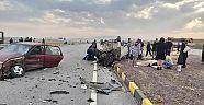 Tüney Köyü Elmapınar Kavşağında Trafik Kazası 7 Yaralı
