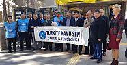 """Türkiye Kamu-Sen Çankırı İl Temsilciliği, """"Bütçe Memurun Bütçesi Değil"""""""