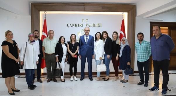 TOBB Çankırı Kadın ve Genç Girişimciler Kurulu İcra Komiteleri Valimiz Ve Belediye Başkanımızı Ziyaret Ettiler